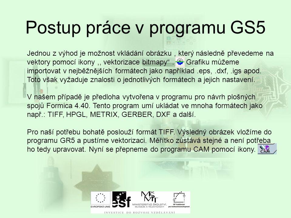 Postup práce v programu GS5