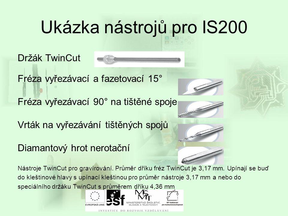 Ukázka nástrojů pro IS200 Držák TwinCut