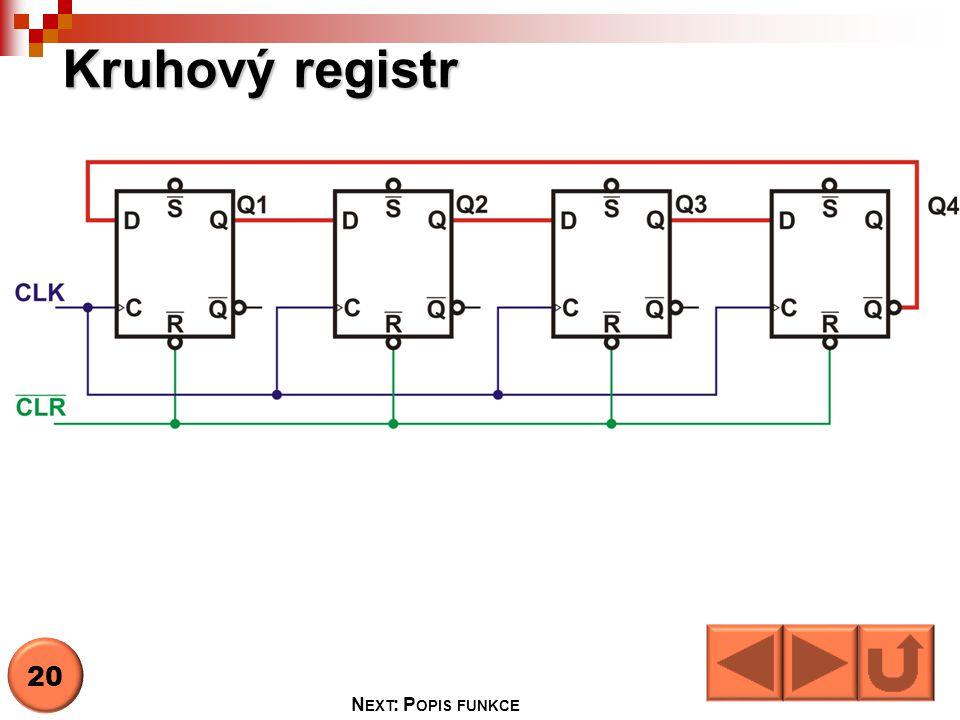 Kruhový registr 20 Next: Popis funkce