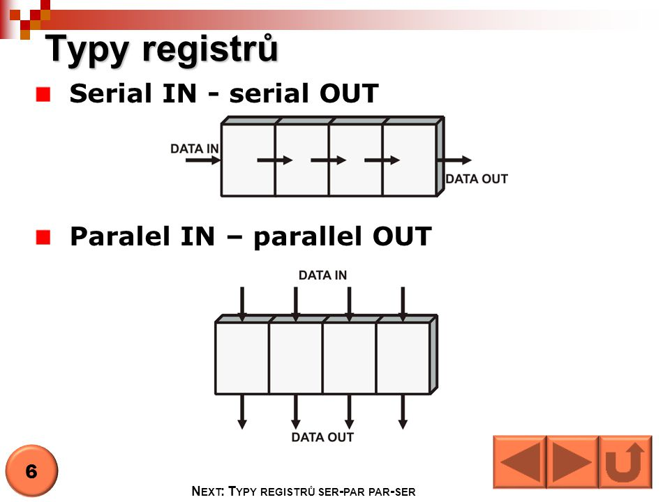 Next: Typy registrů ser-par par-ser