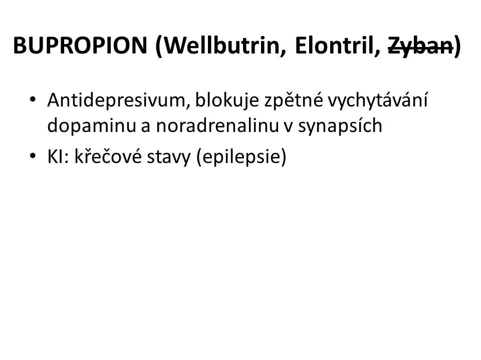 BUPROPION (Wellbutrin, Elontril, Zyban)