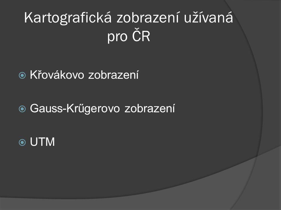 Kartografická zobrazení užívaná pro ČR