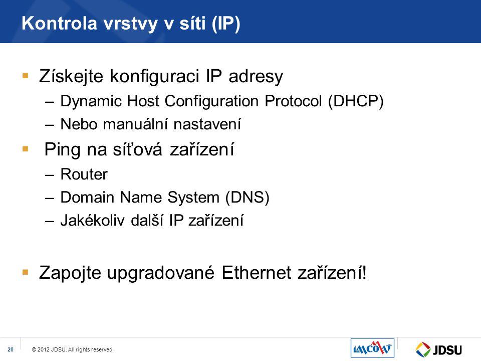 Kontrola vrstvy v síti (IP)