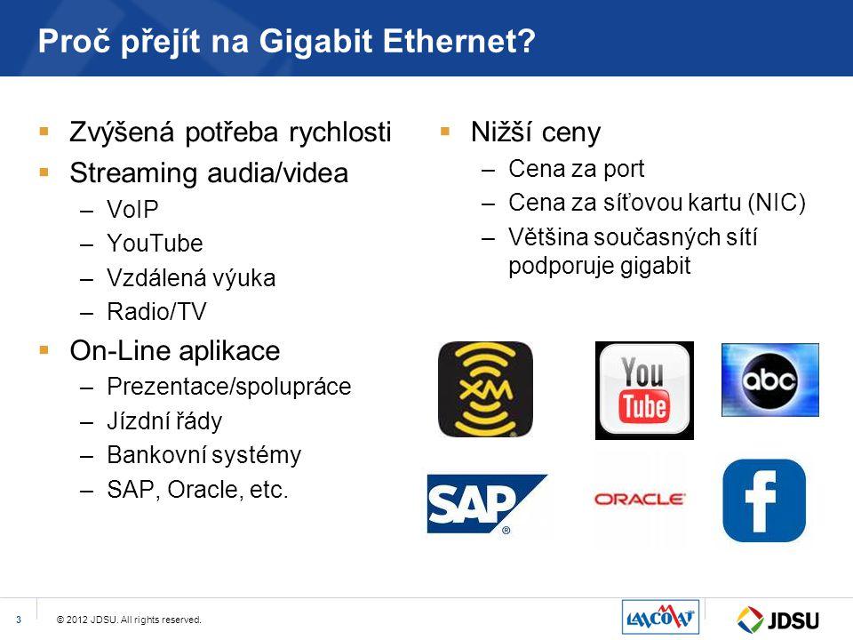 Proč přejít na Gigabit Ethernet