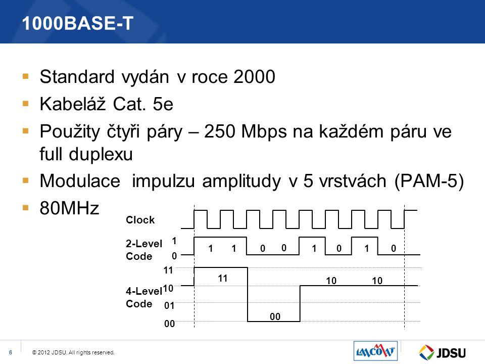 Použity čtyři páry – 250 Mbps na každém páru ve full duplexu