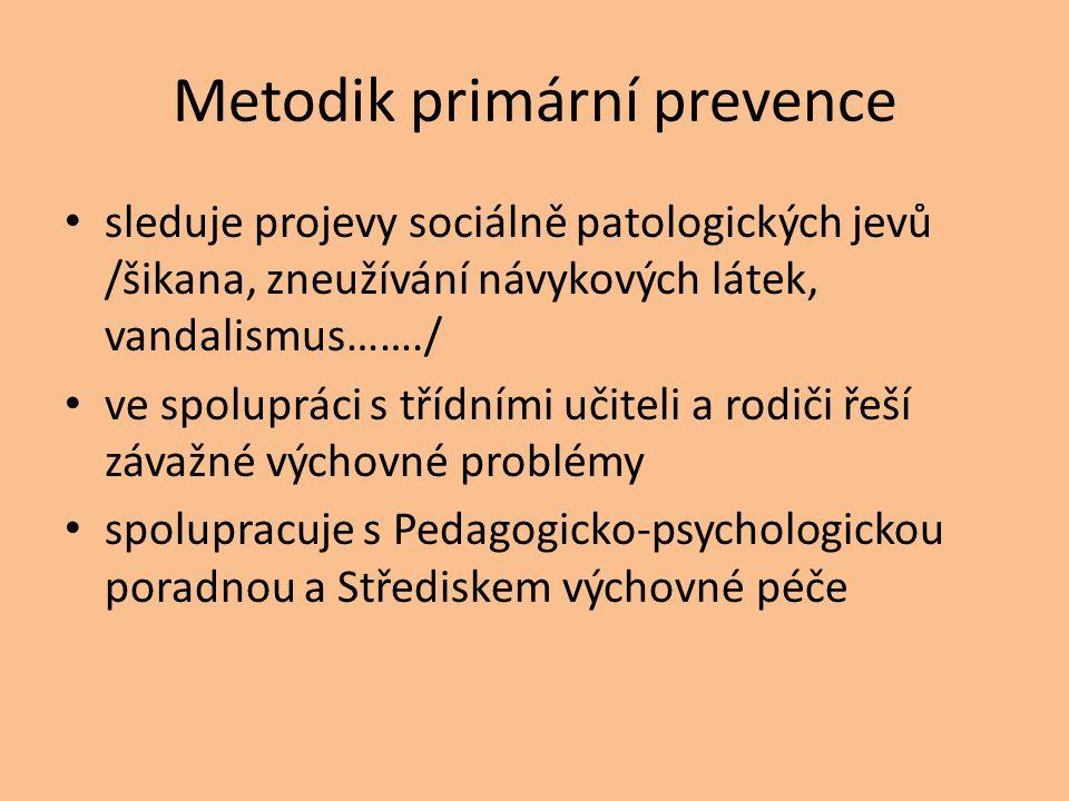 Metodik primární prevence