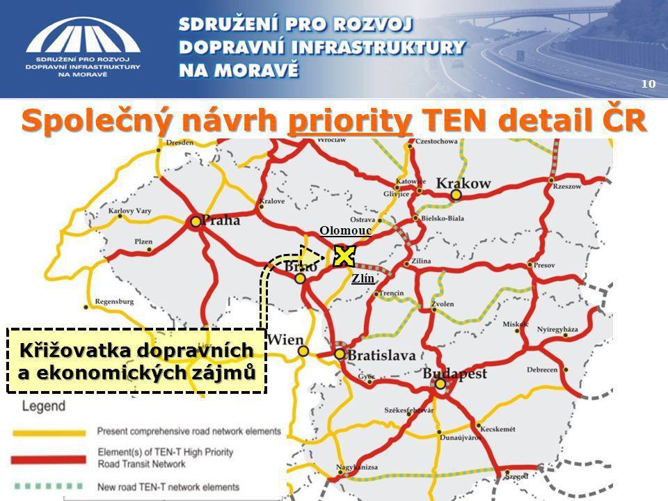 Společný návrh priority TEN detail ČR