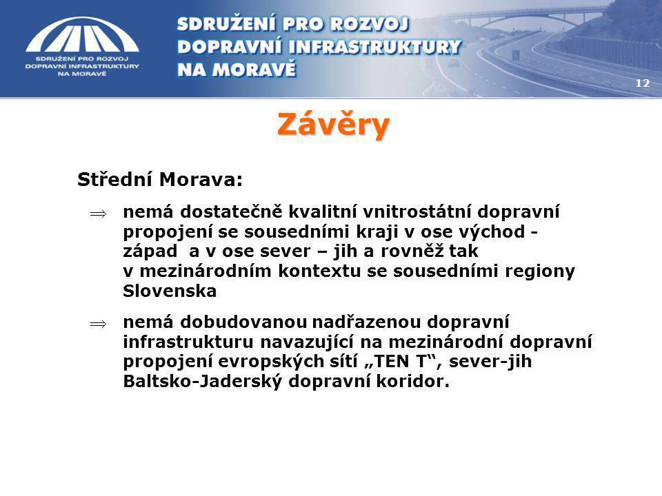 Závěry Střední Morava: