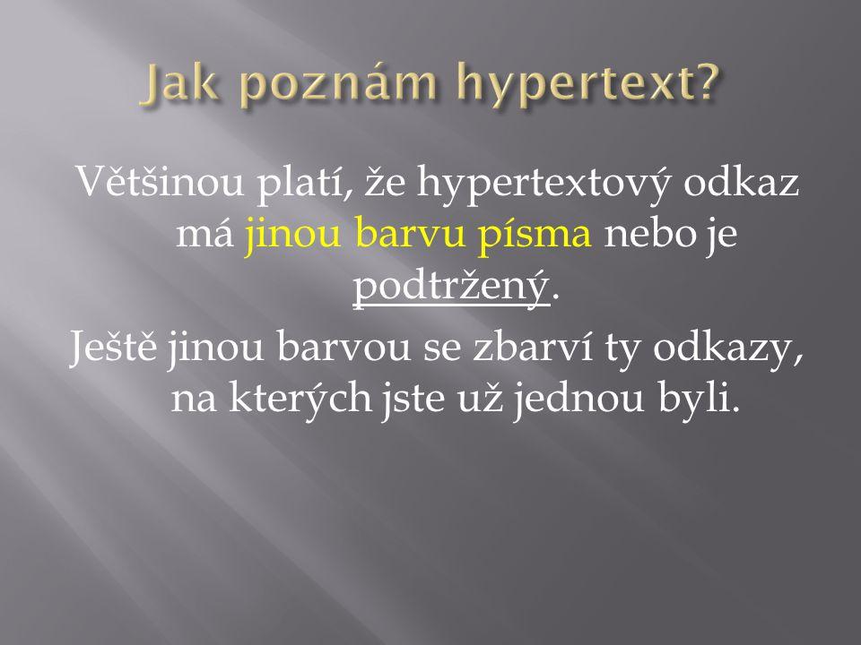 Jak poznám hypertext