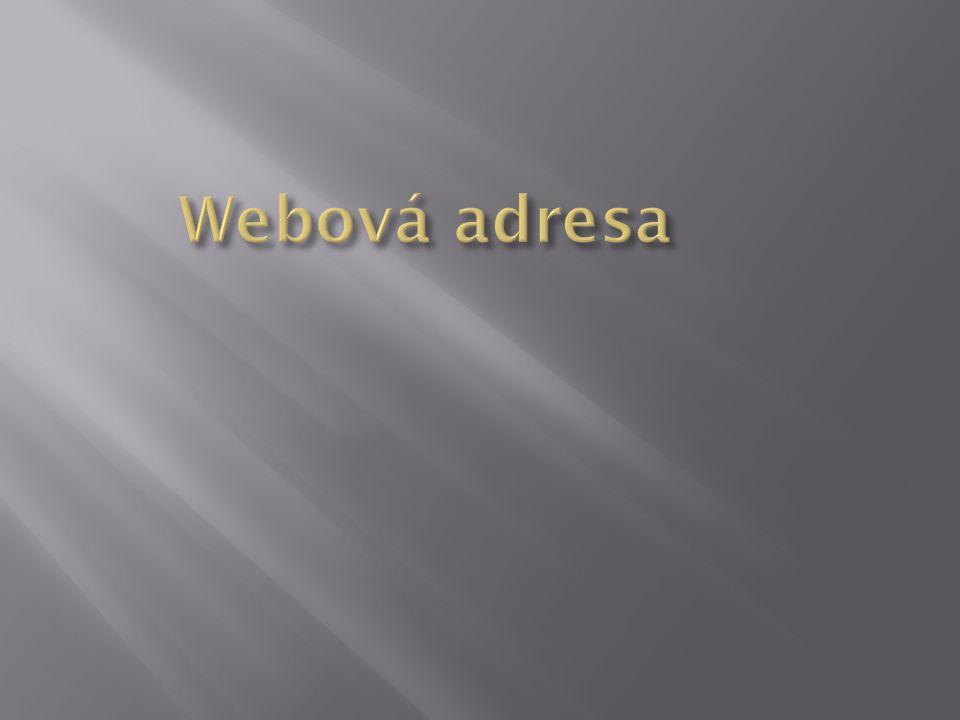 Webová adresa