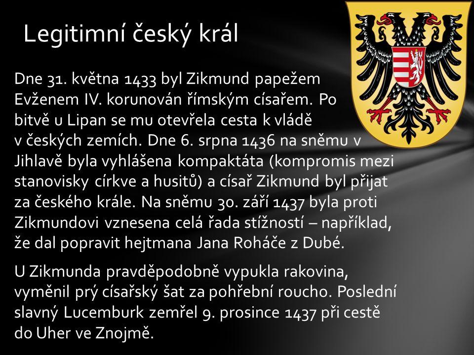 Legitimní český král