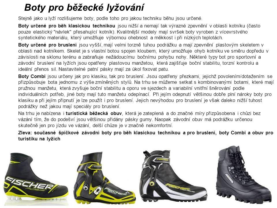 Boty pro běžecké lyžování