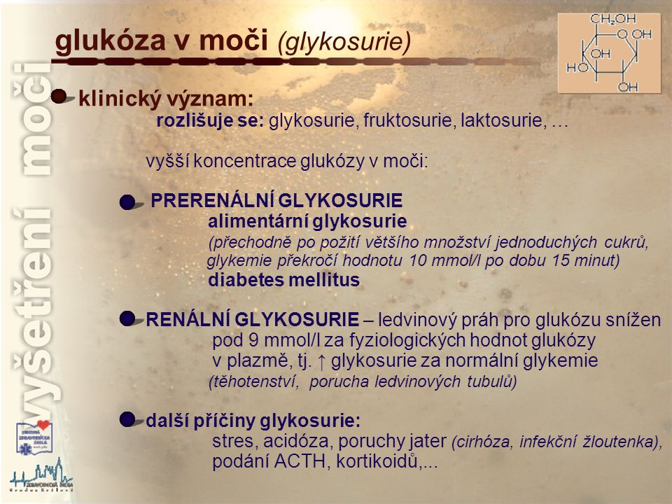 glukóza v moči (glykosurie)