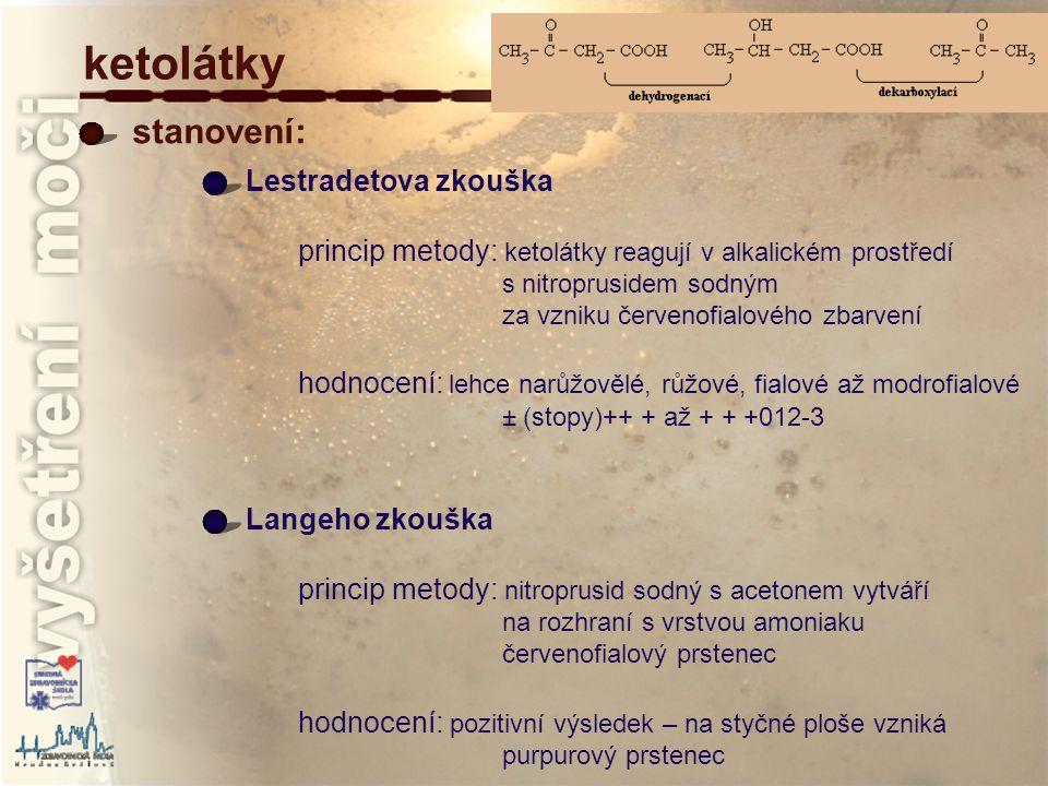 ketolátky stanovení: Lestradetova zkouška