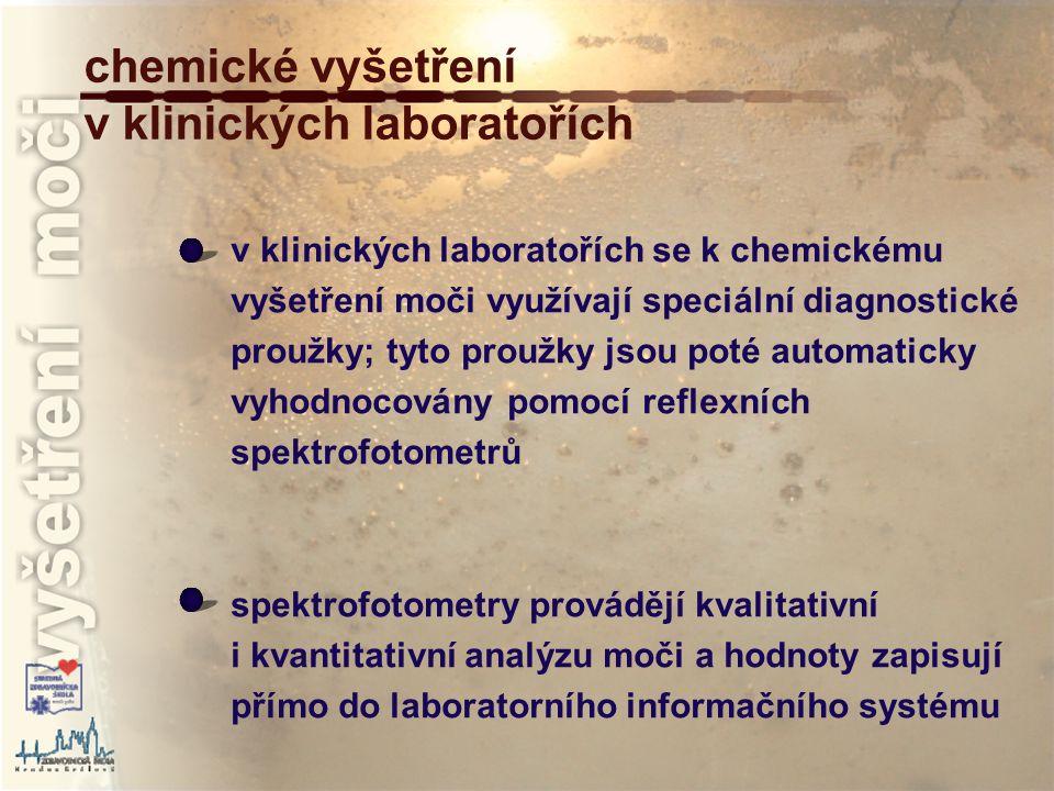 chemické vyšetření v klinických laboratořích