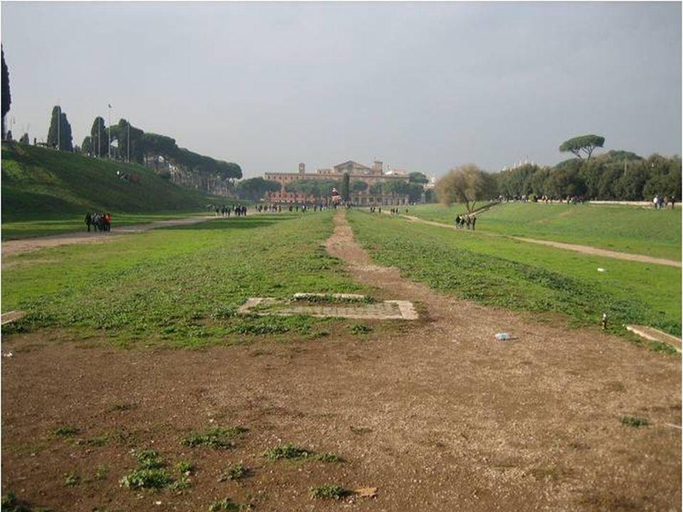 V současné době je Circus Maximus park (velká stavba je císařský palác Palatine.