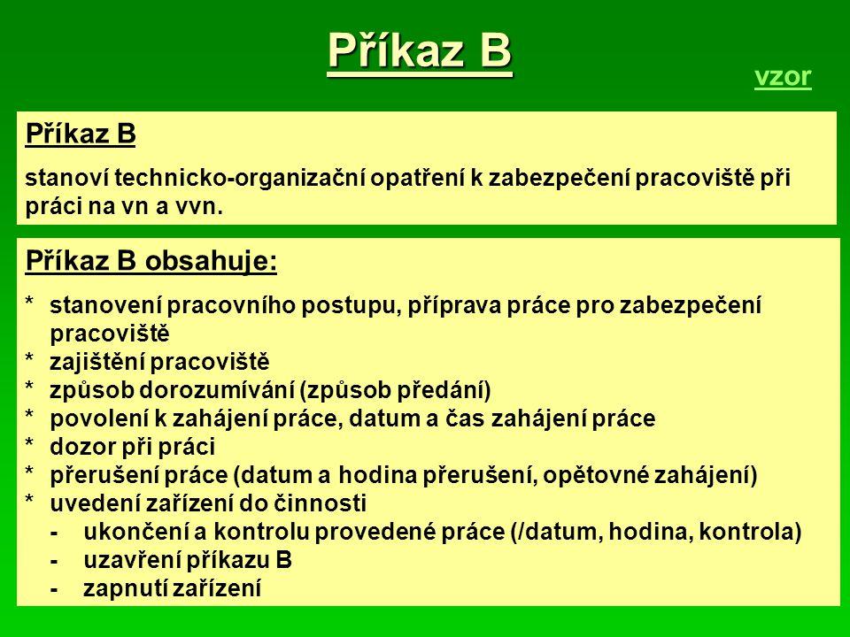 Příkaz B vzor Příkaz B Příkaz B obsahuje:
