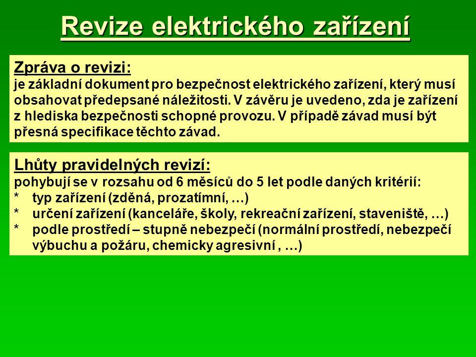 Revize elektrického zařízení
