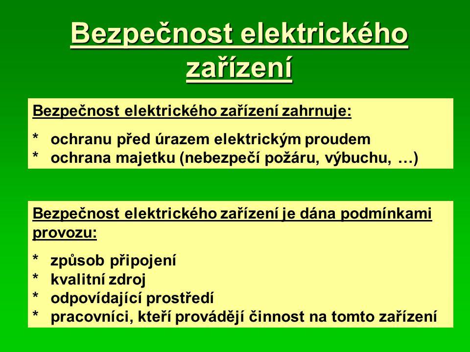 Bezpečnost elektrického zařízení