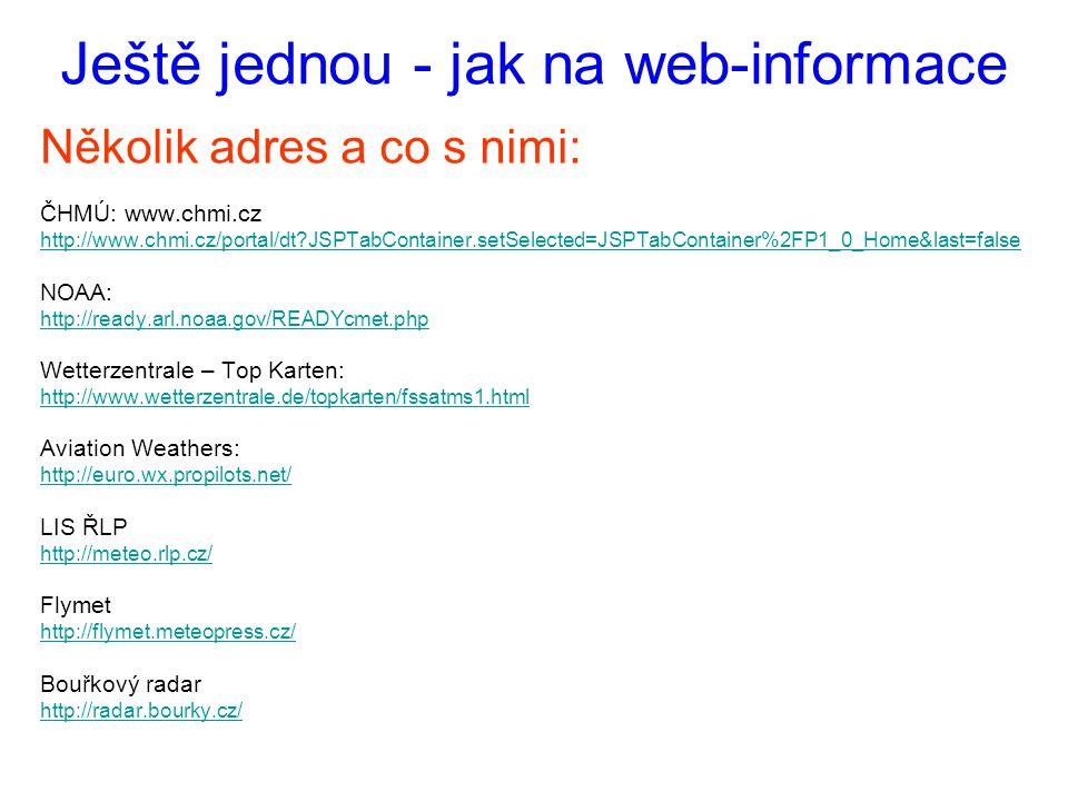 Ještě jednou - jak na web-informace