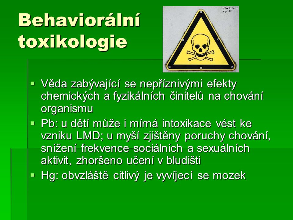 Behaviorální toxikologie
