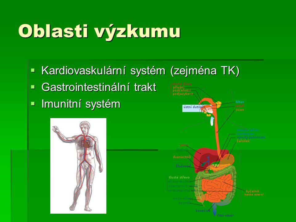 Oblasti výzkumu Kardiovaskulární systém (zejména TK)