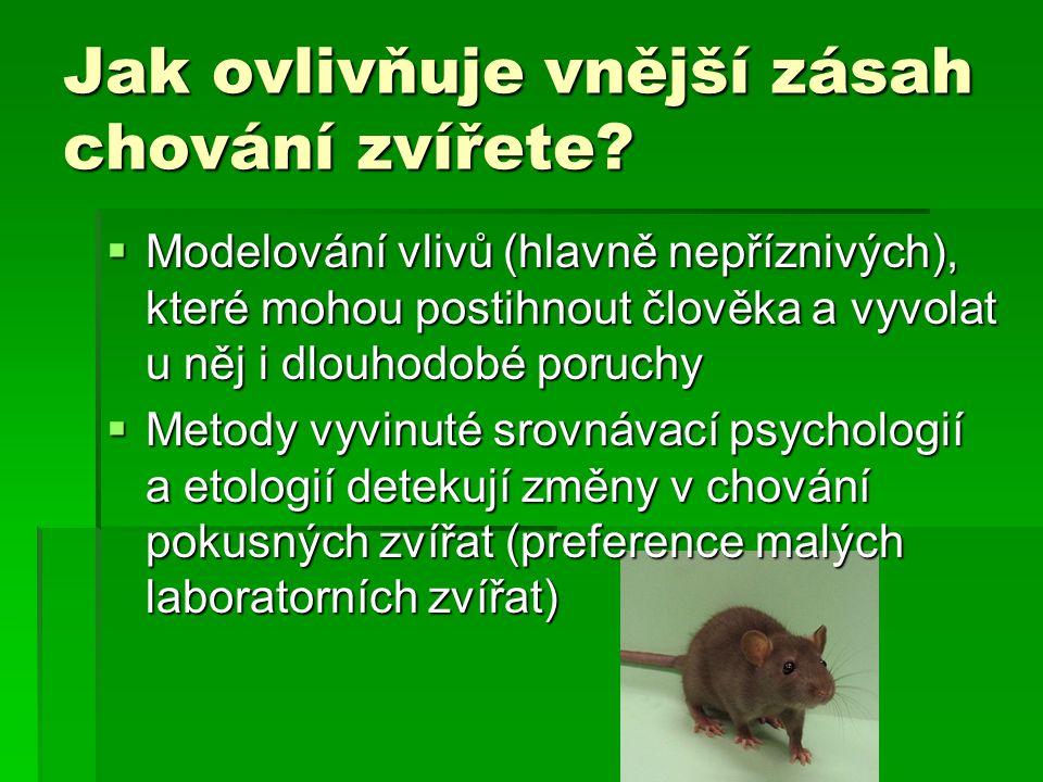 Jak ovlivňuje vnější zásah chování zvířete