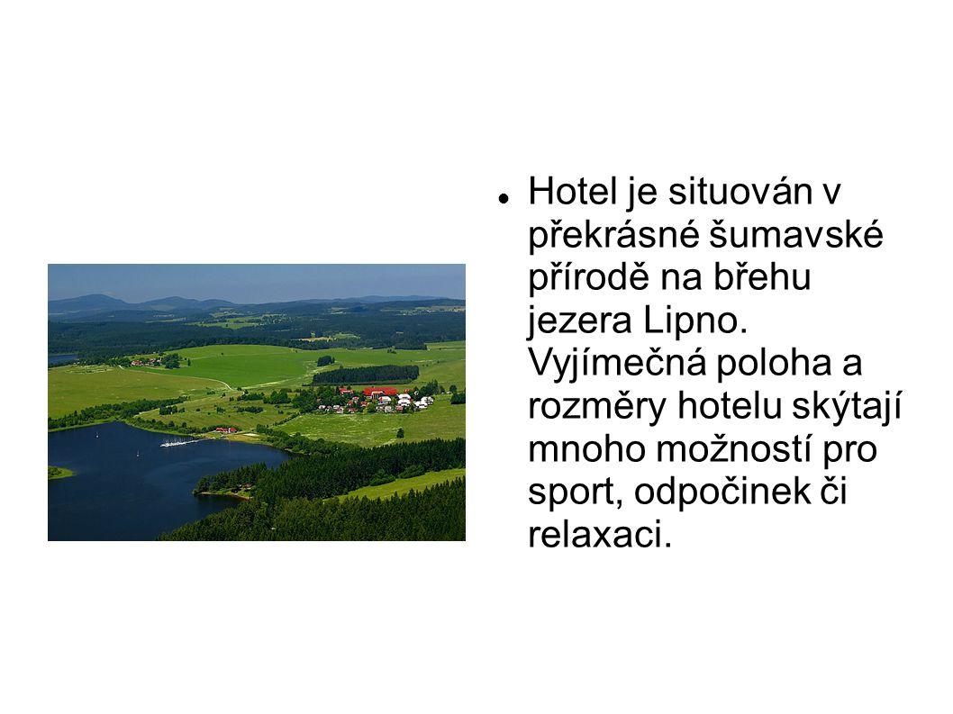 Hotel je situován v překrásné šumavské přírodě na břehu jezera Lipno