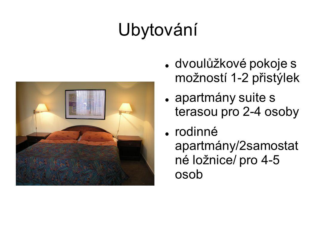Ubytování dvoulůžkové pokoje s možností 1-2 přistýlek