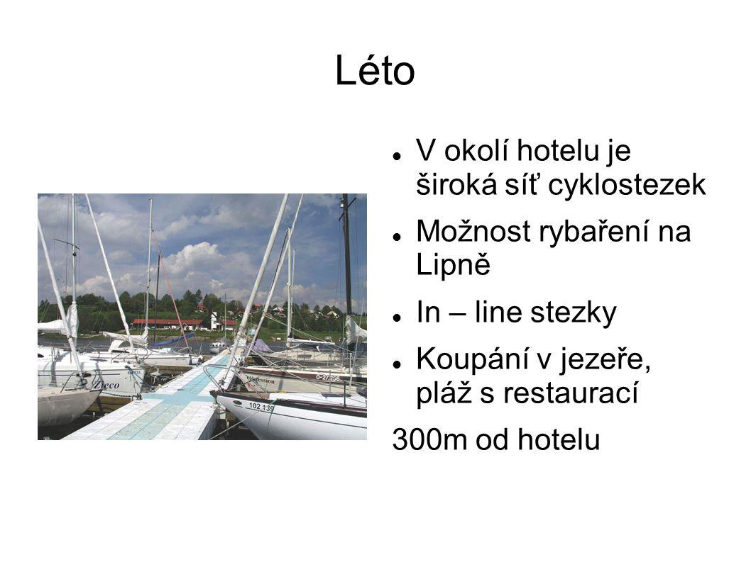 Léto V okolí hotelu je široká síť cyklostezek