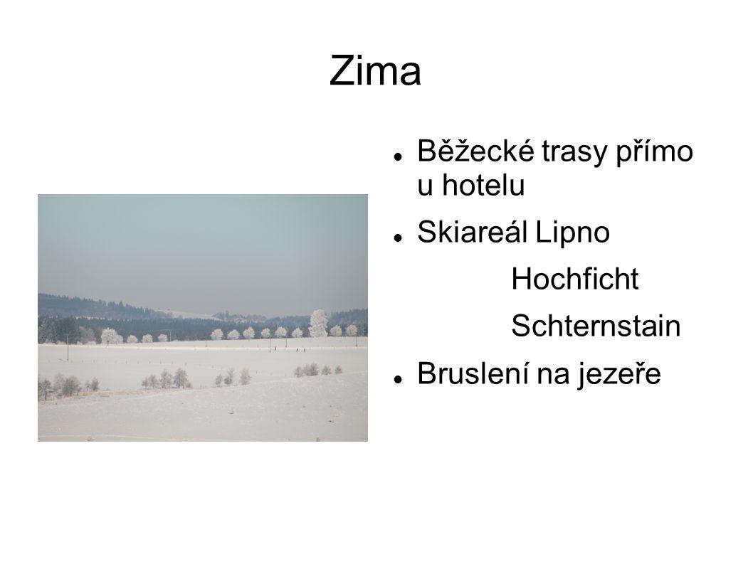 Zima Běžecké trasy přímo u hotelu Skiareál Lipno Hochficht