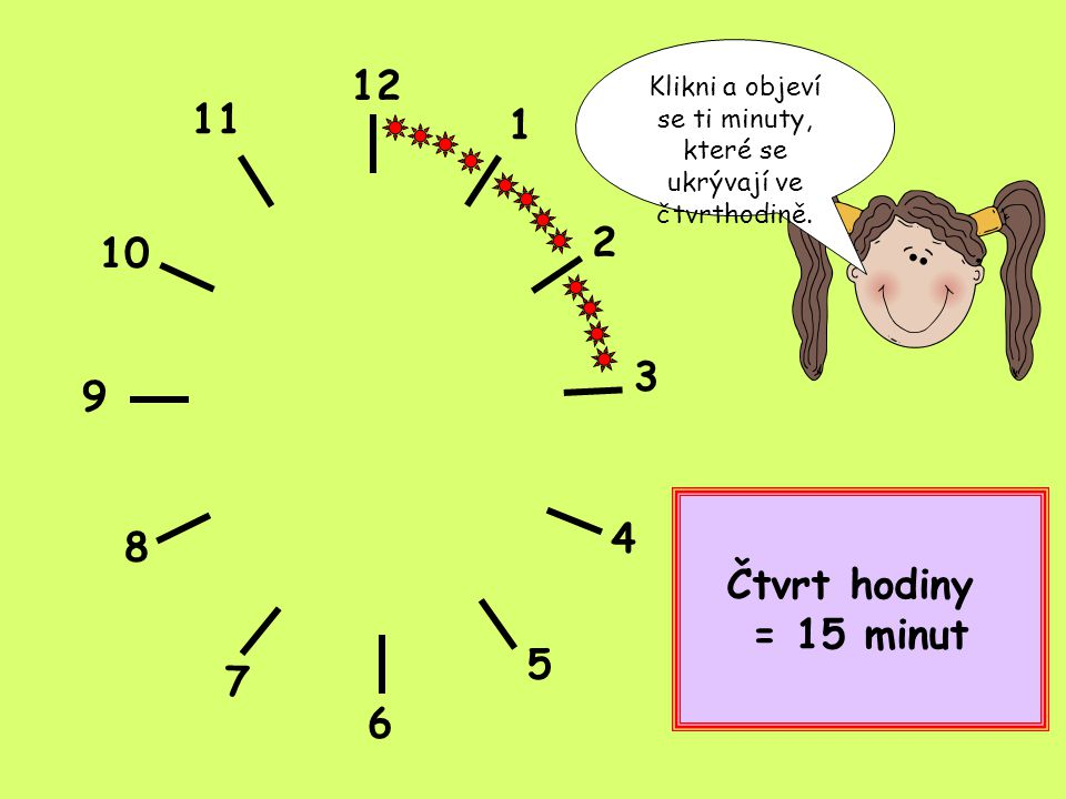 Klikni a objeví se ti minuty, které se ukrývají ve čtvrthodině.