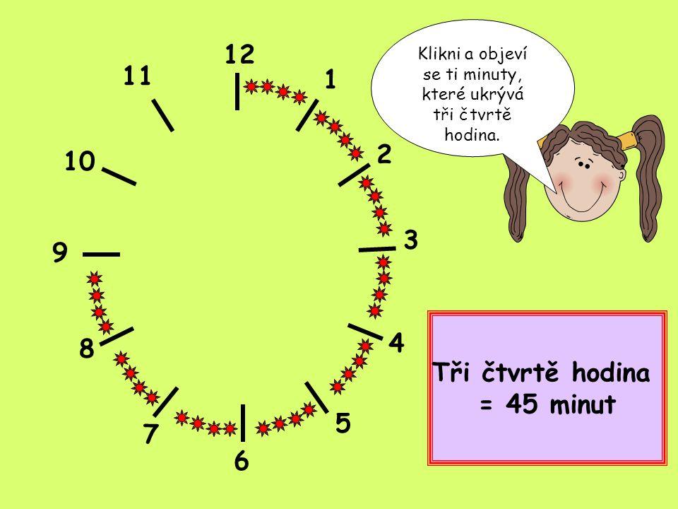 Klikni a objeví se ti minuty, které ukrývá