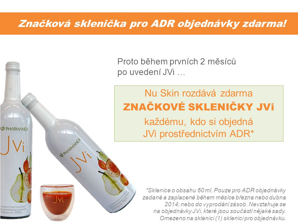 Značková sklenička pro ADR objednávky zdarma!
