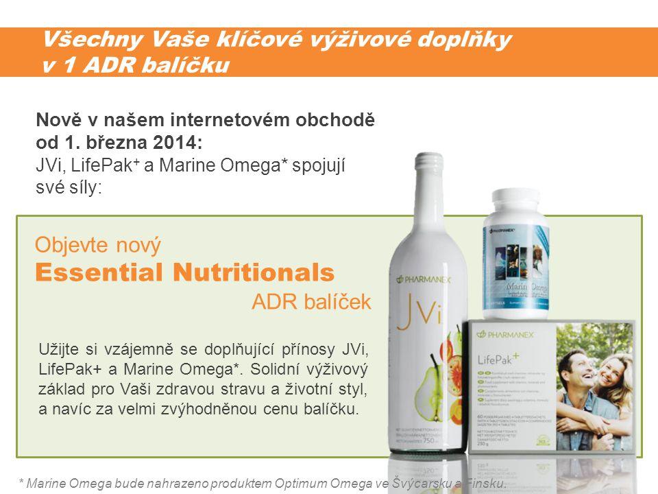 Všechny Vaše klíčové výživové doplňky v 1 ADR balíčku