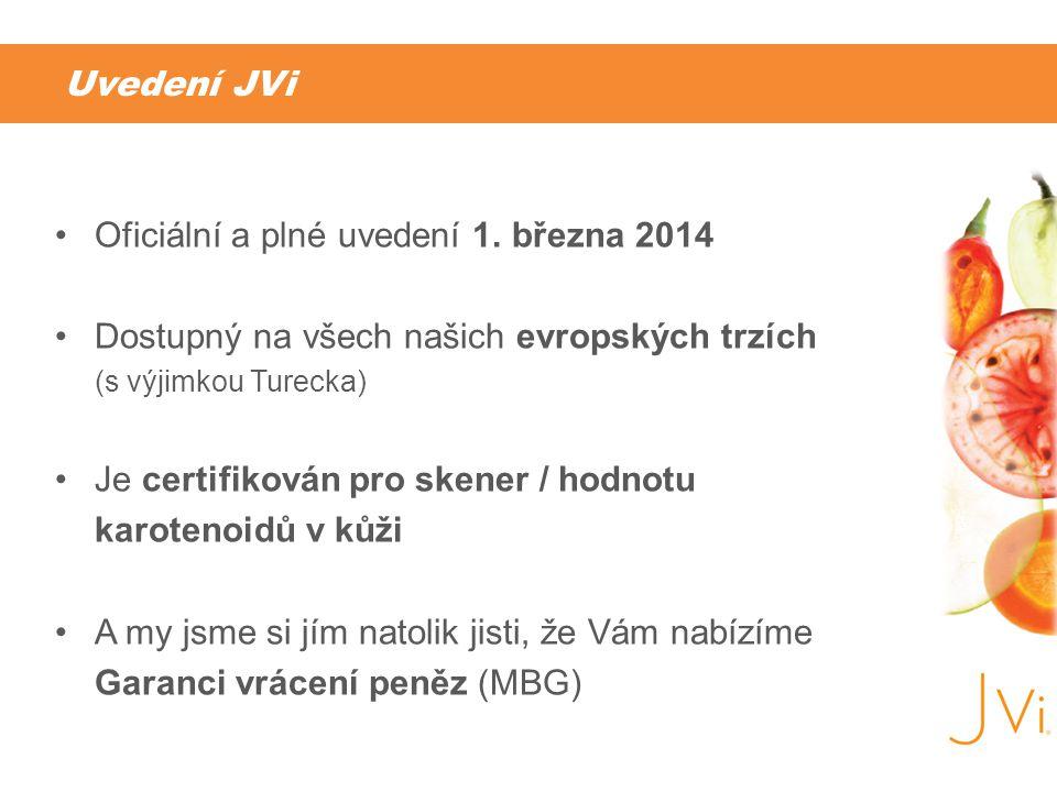 Uvedení JVi Oficiální a plné uvedení 1. března 2014. Dostupný na všech našich evropských trzích (s výjimkou Turecka)