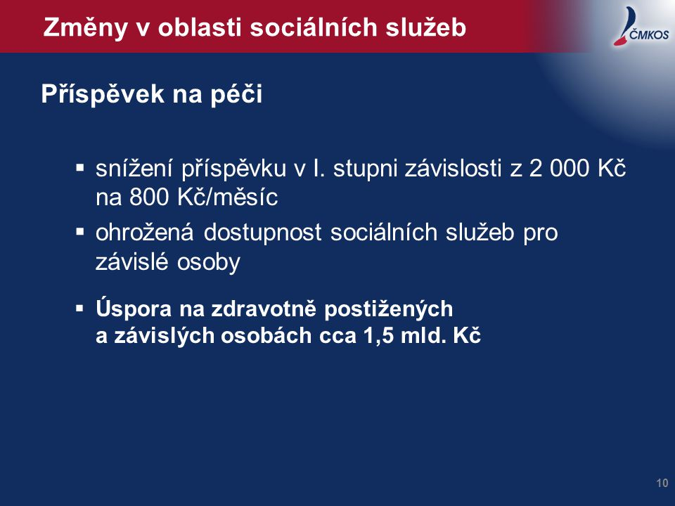 Změny v oblasti sociálních služeb