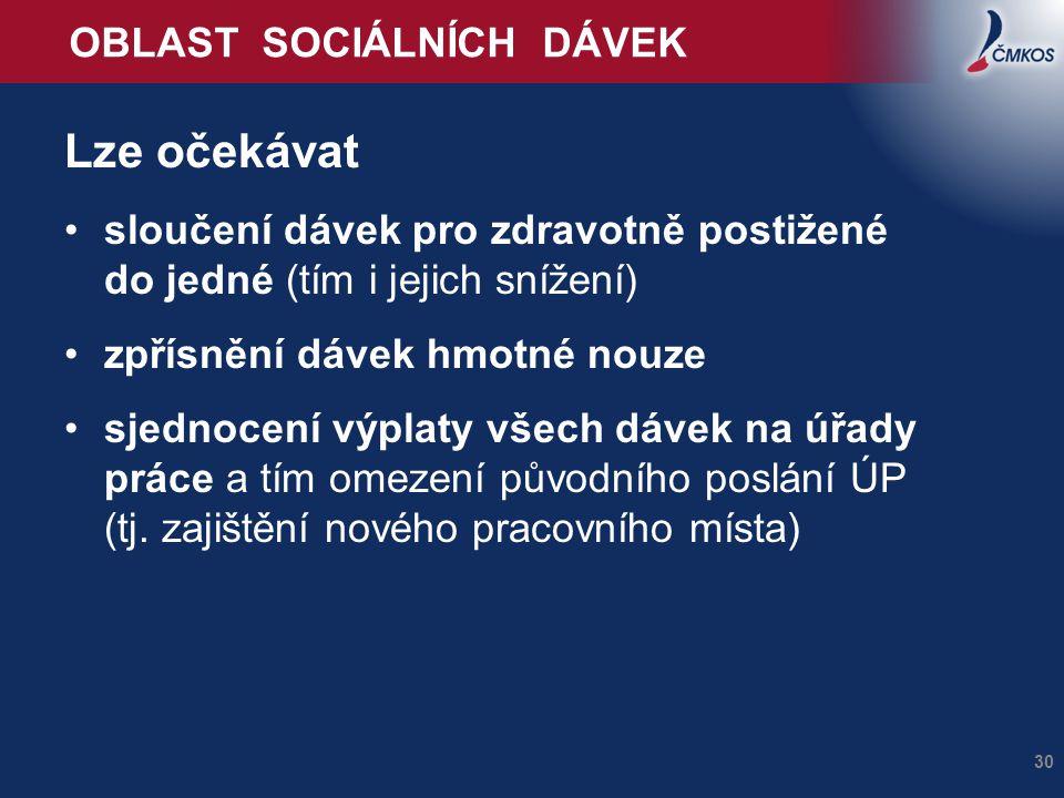 OBLAST SOCIÁLNÍCH DÁVEK