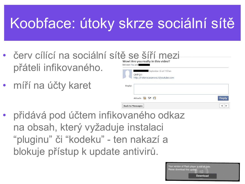 Koobface: útoky skrze sociální sítě