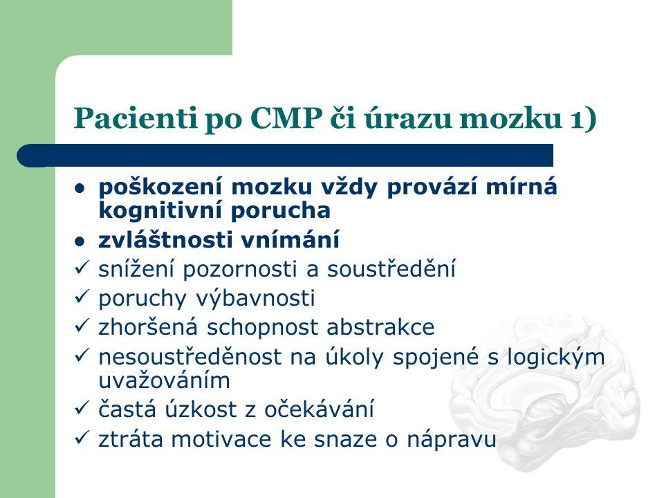 Pacienti po CMP či úrazu mozku 1)