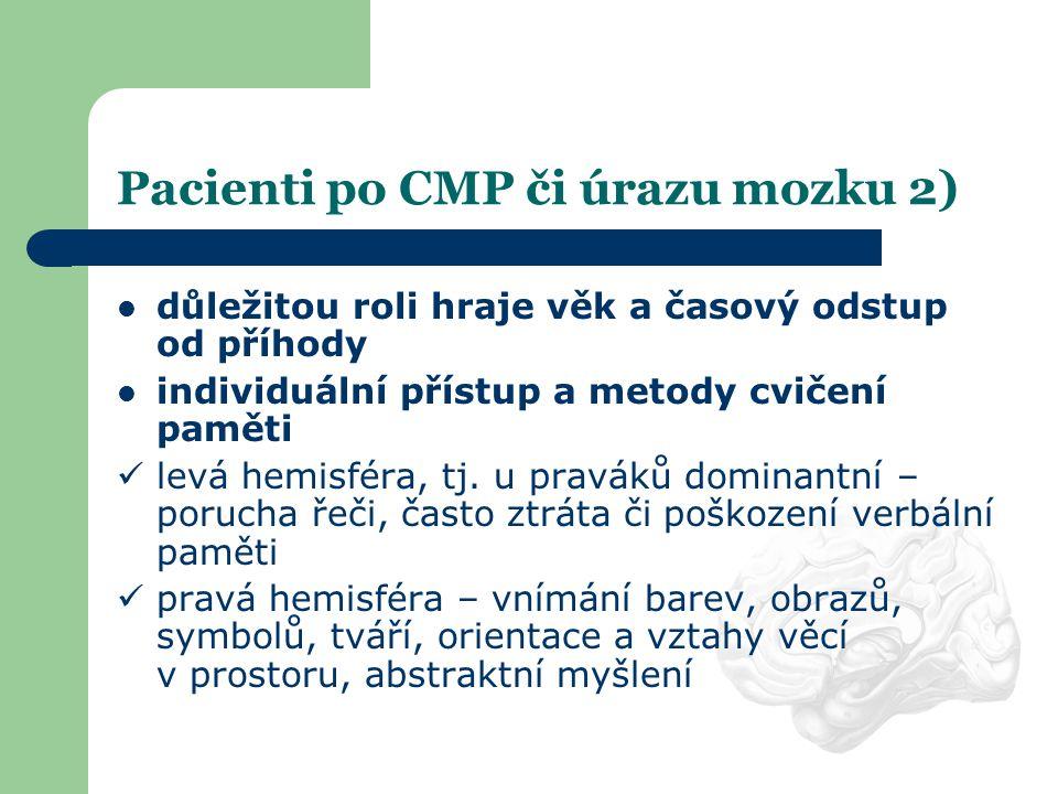 Pacienti po CMP či úrazu mozku 2)