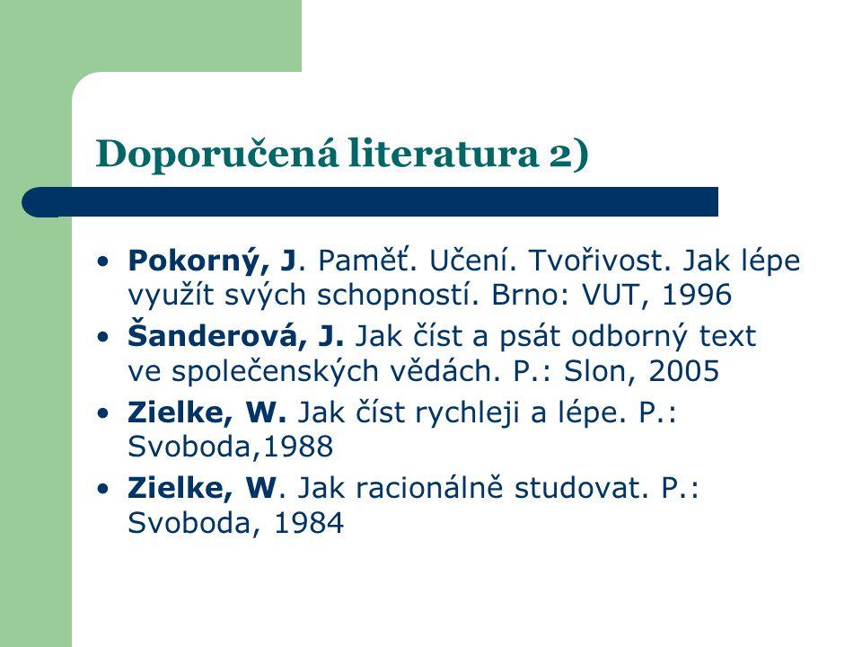 Doporučená literatura 2)