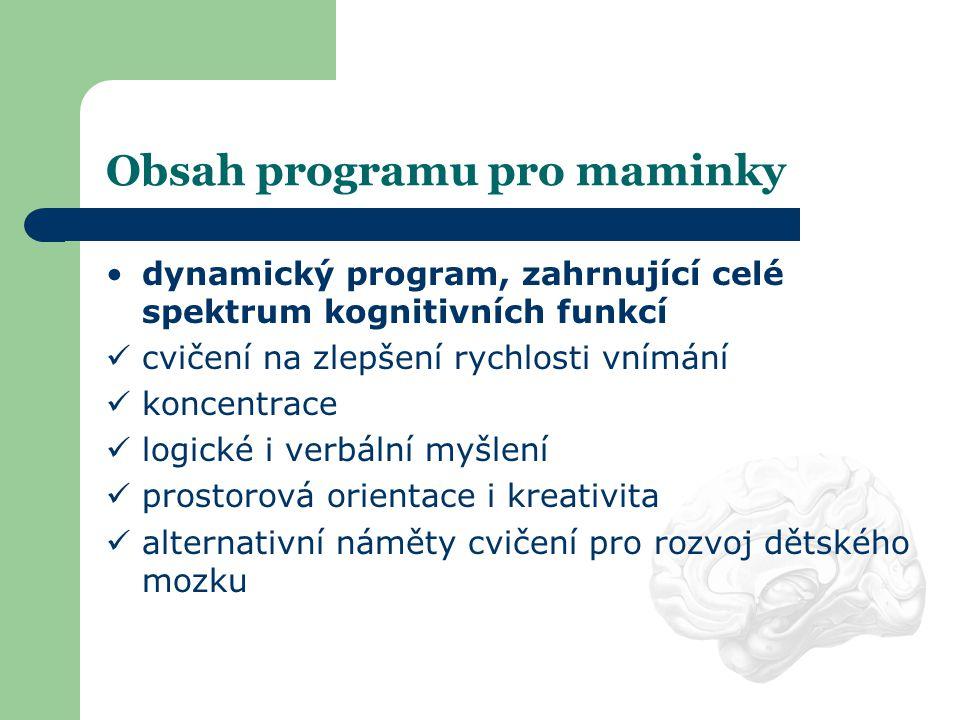 Obsah programu pro maminky