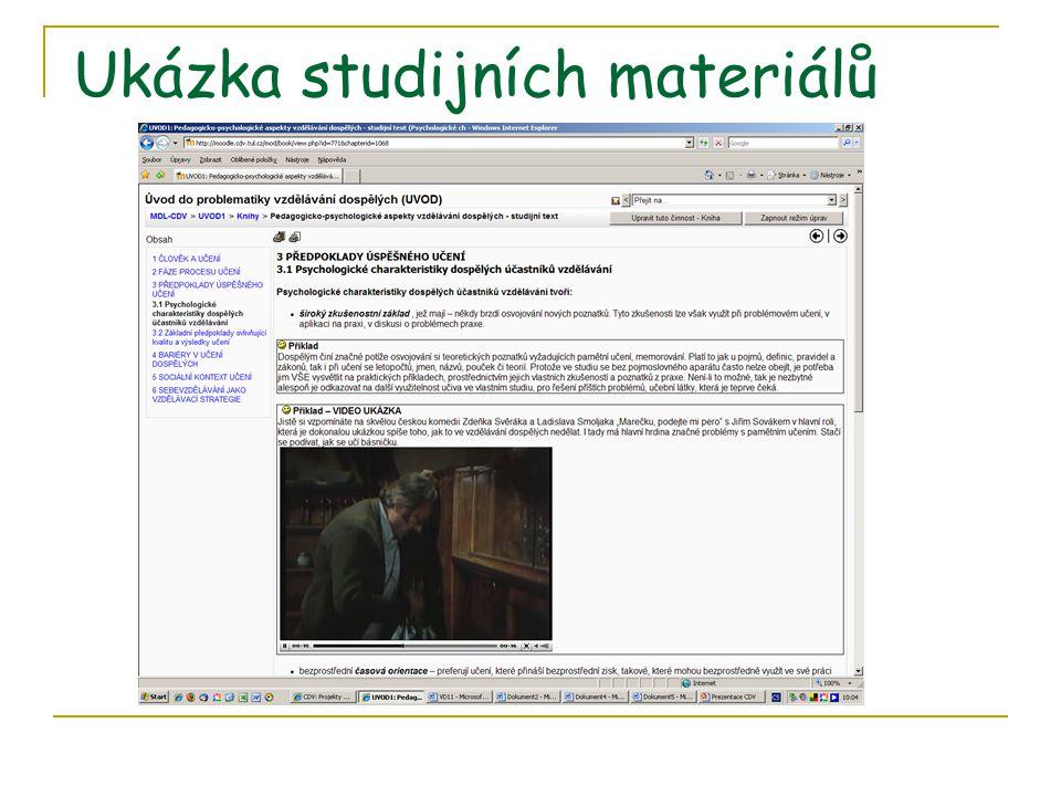 Ukázka studijních materiálů