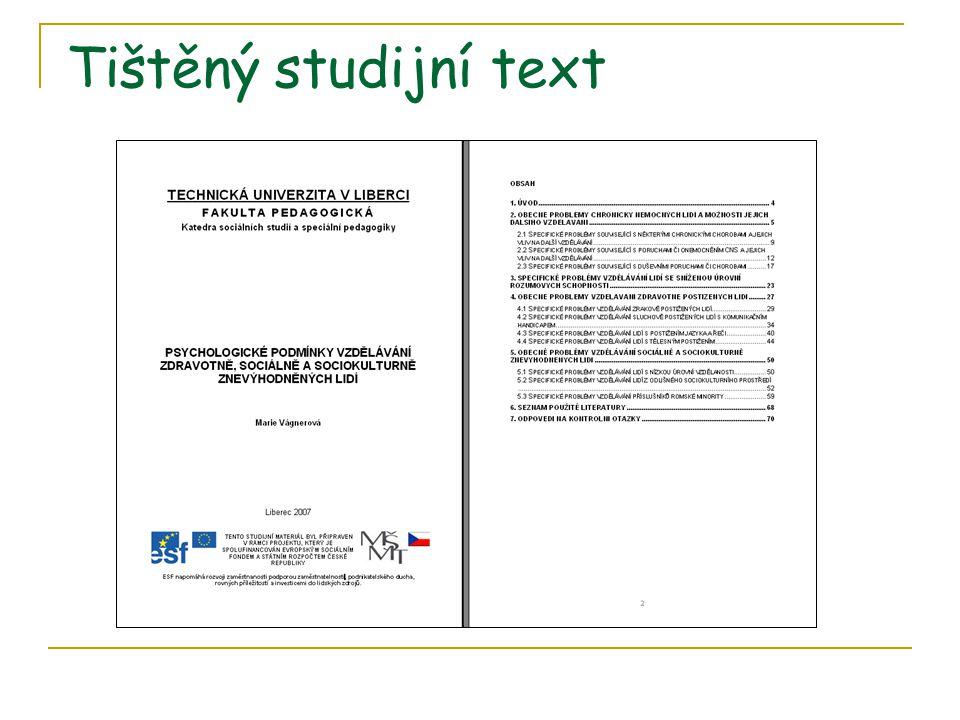 Tištěný studijní text