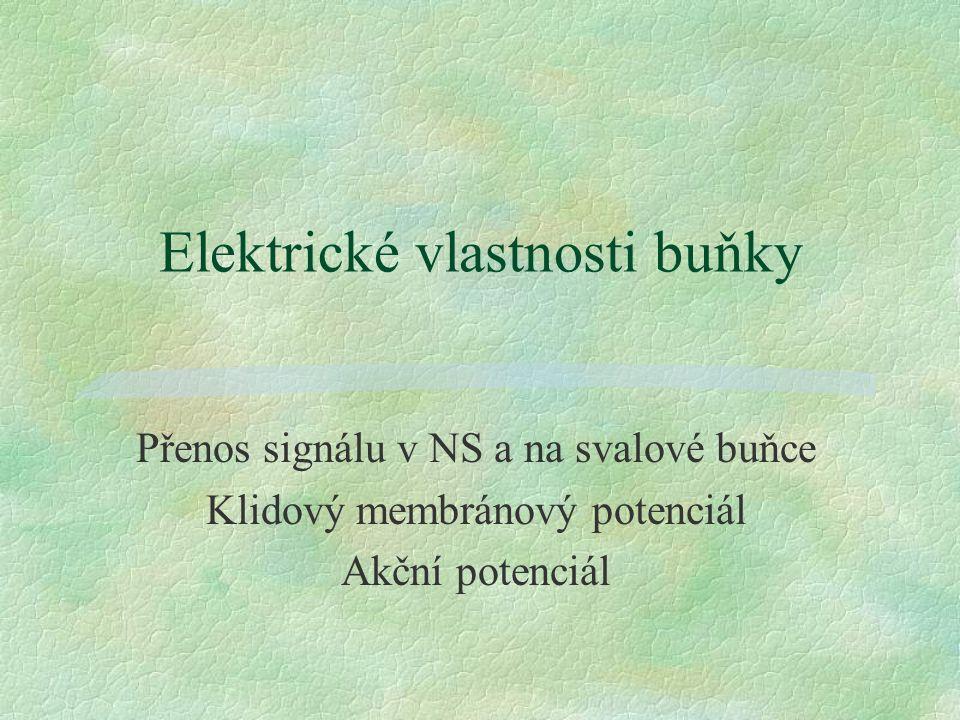 Elektrické vlastnosti buňky