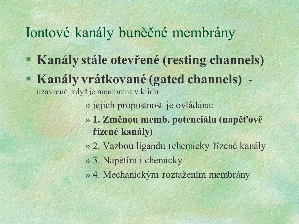 Iontové kanály buněčné membrány