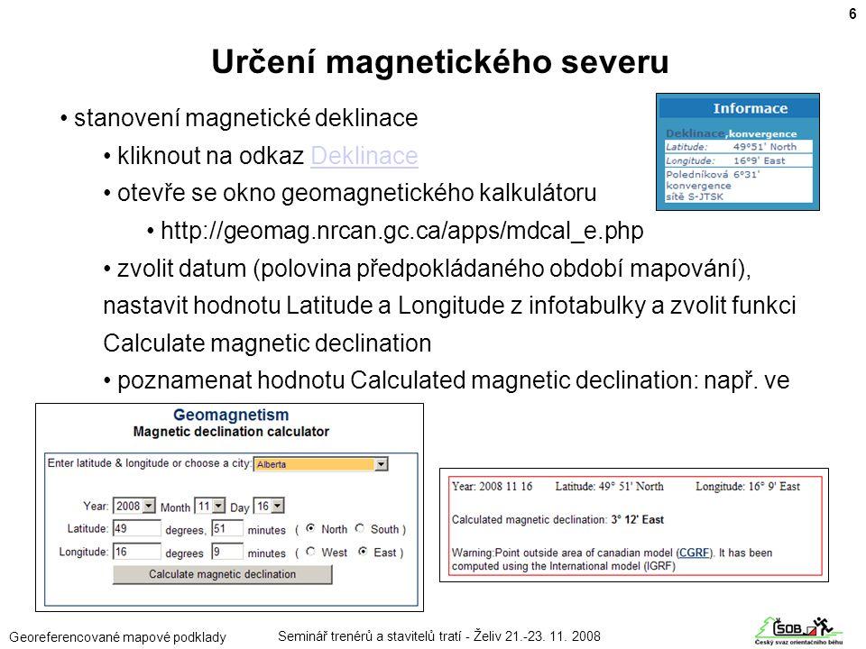 Určení magnetického severu