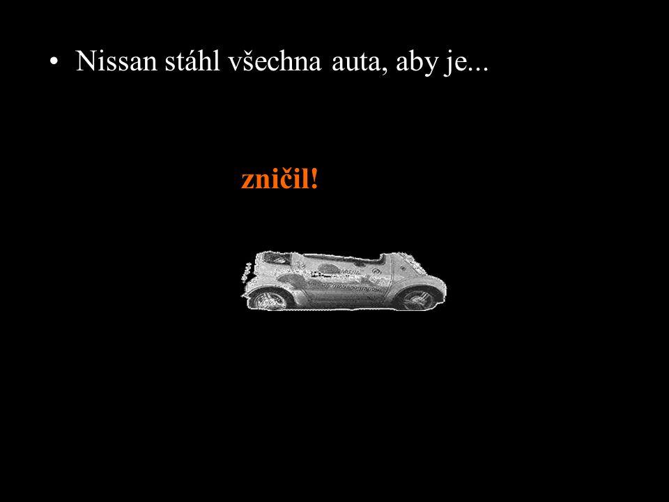 Nissan stáhl všechna auta, aby je...