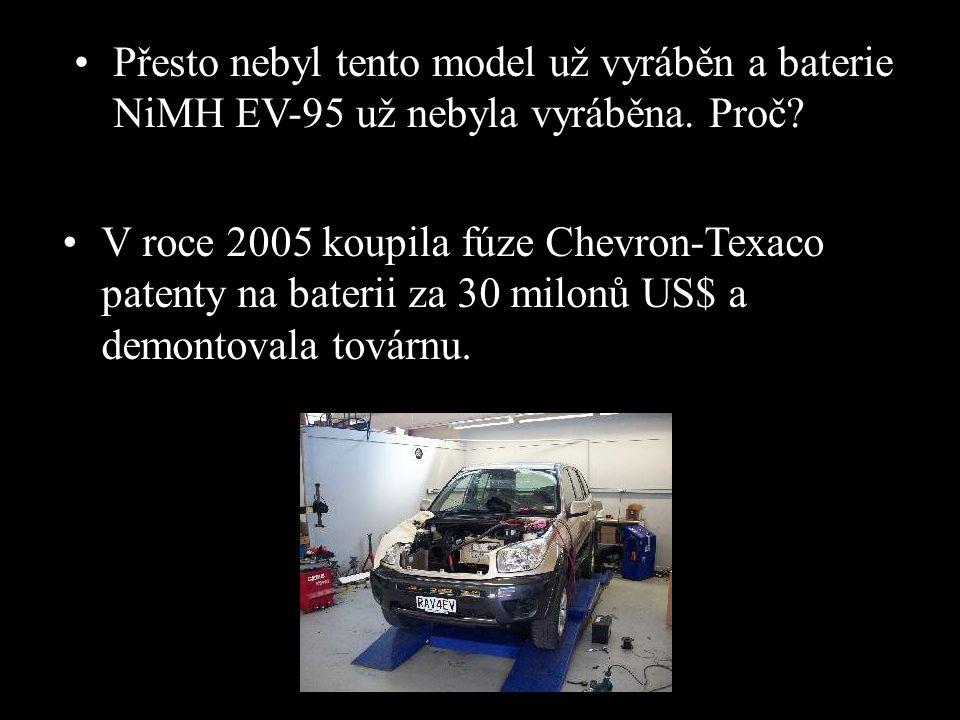 Přesto nebyl tento model už vyráběn a baterie NiMH EV-95 už nebyla vyráběna. Proč